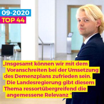 Umsetzungsstand des Demenzplans für Schleswig-Holstein