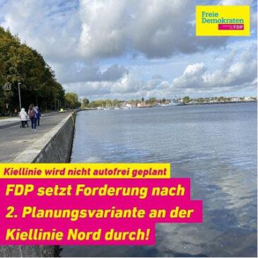 FDP setzt Forderung nach PKW Planungsvariante an der Kiellinie Nord durch