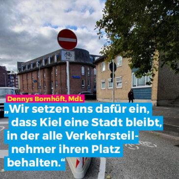Sperrung am Königsweg: FDP Kiel sucht das Gespräch mit betroffenem Gewerbetreibendem Kriwat