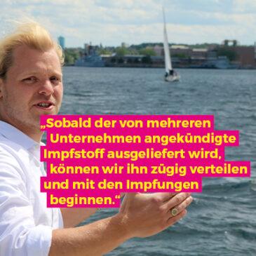 Schleswig-Holstein ist gut vorbereitet auf den Corona-Impfstoff