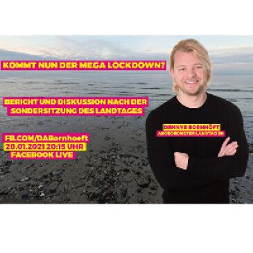 Facebook Live am 20.01.2021: Kommt nun der Mega Lockdown?
