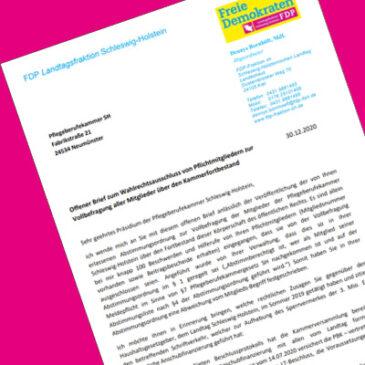 offener Brief an die Pflegeberufekammer SH